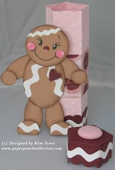 Paper Punch Addiction: Gingerbread punch treat tube