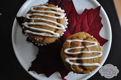 Super easy Pumpkin Muffins with Cream Cheese Glaze