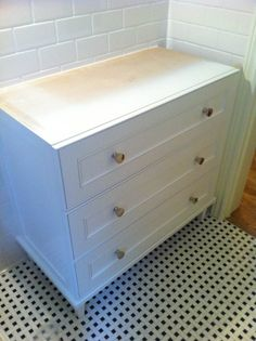 tile and vanity