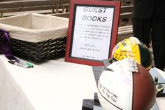 Awesome football guest book idea!
