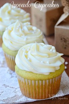 Avocado Cupcakes   w