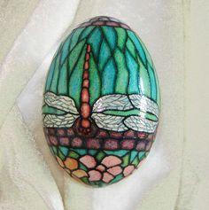 dragonfly pysanky egg!