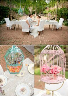 Cute bird cage decor