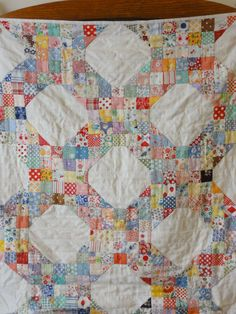 postage stamps quilt. LOVE this