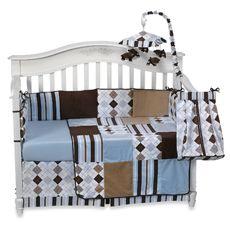 BBB - Prep School Blue 4-Piece Crib Bedding Set, 100% Cotton
