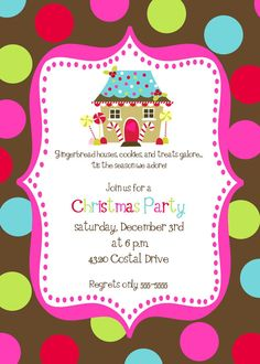 Gingerbread party invite