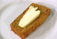 Warm Zucchini Bread Recipe : Emeril Lagasse : Food Network - FoodNetwork.com.  +Vanilla & Golden Raisins.  Use 1 1/2 c zucchini.  Sprinkle greased pan w/ sugar & cinnamon.