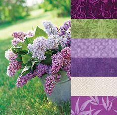 Color Inspirations | color palettes from nature color palette nature, lilac color palette, color palettes, quilt, colors, bedroom colour, fabric, design, color inspir