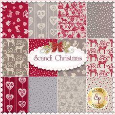 Scandi Christmas 12 FQ Set by Makower UK Fabrics: Scandi Christmas is a collection by Makower UK Fabrics. 100% Cotton.