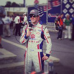 "Photo by @teamhendrick on Instagram: ""@KaseyKahne being interviewed by @ESPN after winning @NHMS. #NASCAR #FARMERS5"""