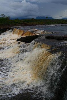 Sabana Grande Falls, Venezuela...  La Gran Sabana, estado Bolivar, Venezuela, Paraiso Magico