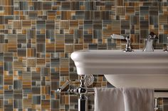 Vivo Glass Tile vivo glass, tile collect, avalon tile, bathroom tile, glass tiles, luxuri bathroom