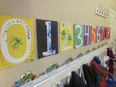 Number game and art by Teach Preschool...I actually really like the craft to display!