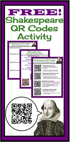 FREE Shakespeare QR Codes!  Learn about Shakespeare's Life and Times