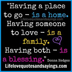 home.. family.. blessing