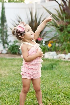 !! Light pink petti romper WITH headband by PrettyPetalsHair on Etsy, $25.95