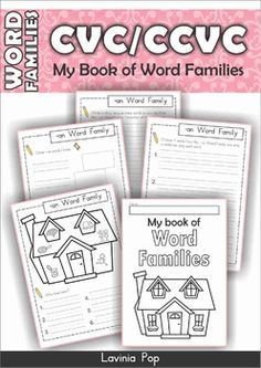 FREE Word Families - CVC & CCVC MEGA BUNDLE Part 1 SAMPLER. A bundle of fun and interactive centers, games, readers and worksheets to help beginning readers!