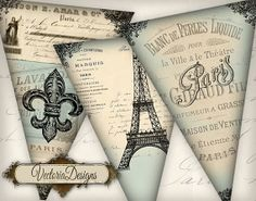 banner instant, paris, party banners, banner printabl, parties, vectoriadesign digit, collages, parti banner