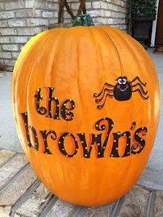 Halloween pumpkin w/ last name.