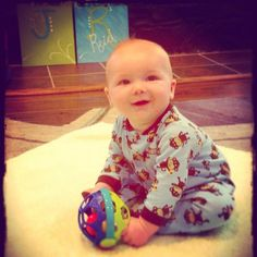 Happy Birthday Jay Reid! Six months and sitting up!