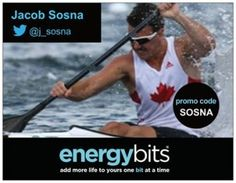 "JACOB SOSNA: Jacob is a Canadian National Team sprint kayak athlete going for Rio 2016! He is a bronze medalist in 2013 Pan AM Games and won the Jr. Men's K-2 200m at the 2013 Nationals. ""I am an Elite Athlete partner because of the immense benefits ENERGYBits has to offer to my training regime. Through the use of this product I find myself to be more energetic and fully recovered from my workouts and I continue to use ENERGYbits to help me gain an edge on my opponents."""