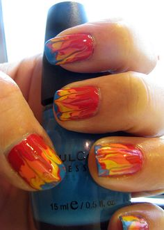 Girl on Fire #nails