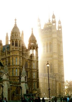 Outside Parliament, London, England