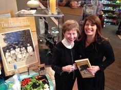 "Purdue Dean of Students Emerita with Author Angie Klink at book party for ""The Deans' Bible: Five Purdue Women and Their Quest for Equality."" Betty is the youngest woman in cover photo with her sister deans. Taken the day the secret Bible was passed down to her in 1987."