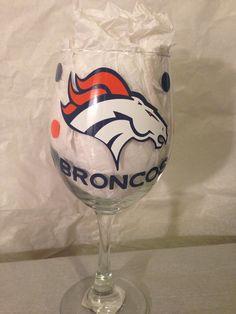 Denver Broncos Football Wine glass