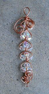 copperwirewrappedswarovski4mmcrystals by a_thousandmiles, via Flickr