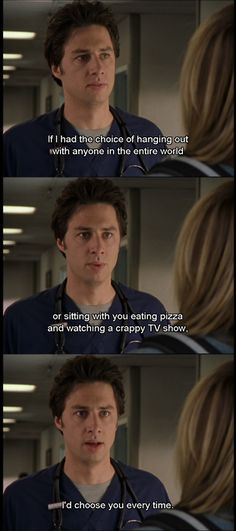 Relationships done right. Also, Scrubs. One of my all-time favorites. -D