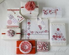 Songbird Christmas White Red Gift Wrapping 10 #easyholidayideas