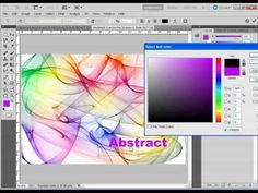 Abstract Smoke Design Photoshop Tutorial - YouTube
