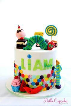 .hungry caterpillar cake