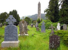 Glendalough, Ireland; Celtic cemetery 13th C.
