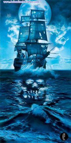 pirate ship----possible tattoo idea