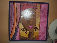 pintura countri, africanasblack beauti, manualidad curso, curso 2012, exposicion manualidad, mis negra