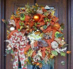 30 Sienna Burlap QUAIL FAMILY FALL Wreath by decoglitz on Etsy