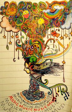 draw, tattoo ideas, colors, doodles, colorful backgrounds, a tattoo, music art, dance, tree of life