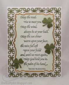One Krafty Kat: IO - Irish Blessings