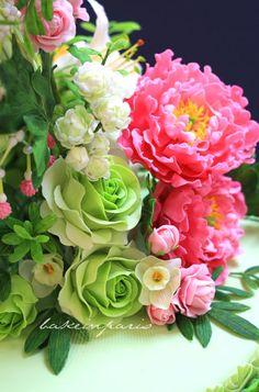 fondant cake flowers, gumpaste cake flowers, gumpast flower, color combinations, cupcakes floral
