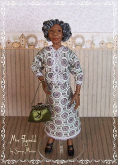 Custom Order Edwardian OLD Lady PORTRAIT ooak by SorayaMiniatures