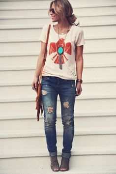 boyfriend jeans, fashion, cloth, casual styles, necklac, casual looks, casual outfits, shoe, shirt