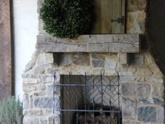 Hand hewn Beam for an Outdoor Fireplace Mantle - traditional - patio - birmingham - Fletcher@ ABMWOOD.COM ... Antique Materials