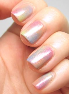 Multi-coloured pastel gradient nails
