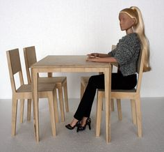 set for 1:4 scale fashion dolls - tonner cami sybarite furniture - table and chairs for 16'' dolls - PREORDER. zł354.00, via Etsy.