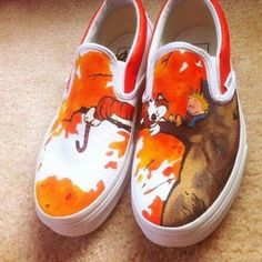 fashion, hobb, vans, halloween costumes, hands, funny pictures, painted shoes, sneakers, calvin