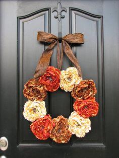 Autumn Decor Front Door Wreaths Holidays Harvest by twoinspireyou, $85.00