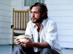Ryan Gosling from The Notebook  My fav... tousled hair and a beard xo