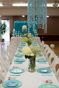 Table at a Mermaid Party #mermaid #partytable